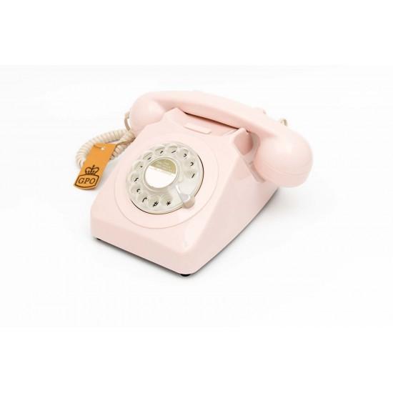 GPO - Téléphone rose pastel rétro 746