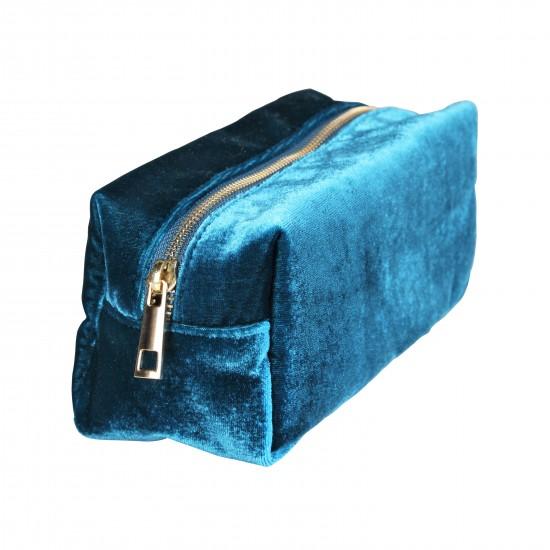 Klevering - Trousse de toilette velours bleu