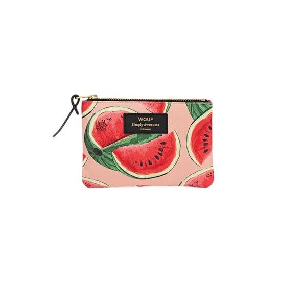 Wouf - Petite pochette imprimé pastèques