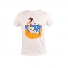 Loreak Mendian - T-shirt blanc motif syrene