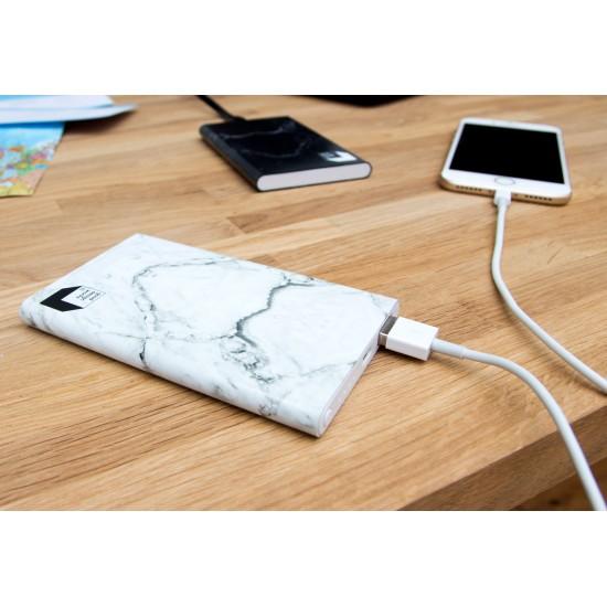 Suck UK - Batterie externe marbre blanc