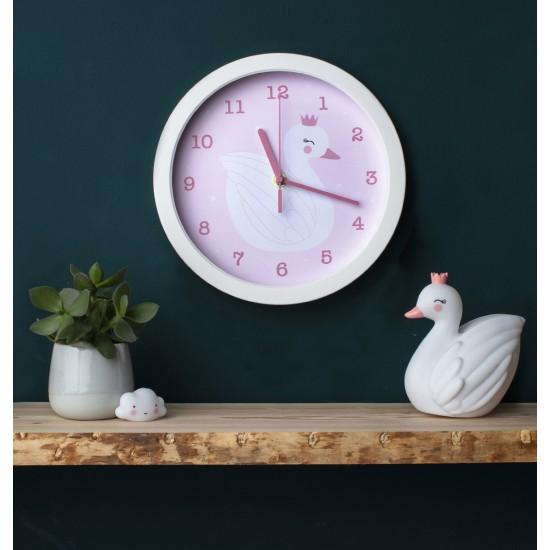 A Little Lovely - Horloge murale cygne