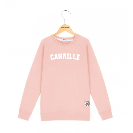 French Disorder - Sweat enfant vieux rose Canaille