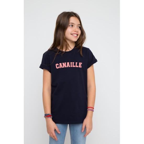 French Disorder - T-shirt enfant bleu marine Canaille