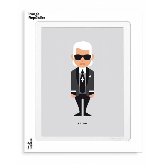 Image Republic - Tirage Le Duo Karl Lagerfeld 30x40