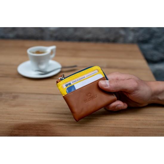 BillyBelt - Porte cartes zip jaune