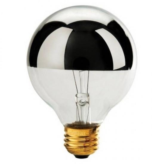 FISURA - Ampoule semi transparente chrome