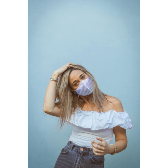 FISURA - Masque adulte vichy bleu