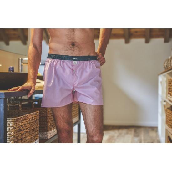 BillyBelt - Caleçon coton bio Pink chevron