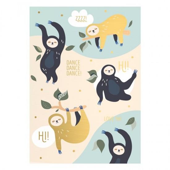 Timi - Carte postale Paresseux