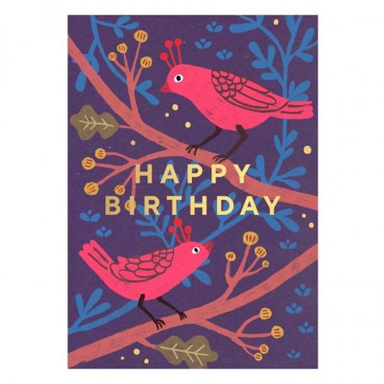 Timi - Carte anniversaire oiseaux