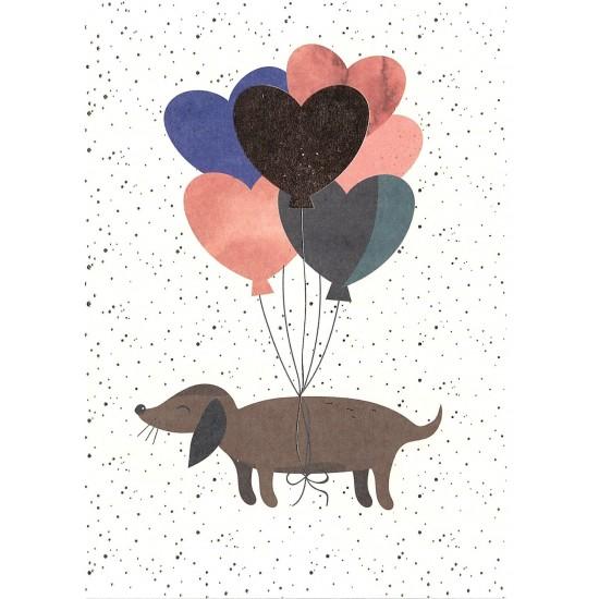 Timi - Carte anniversaire chien