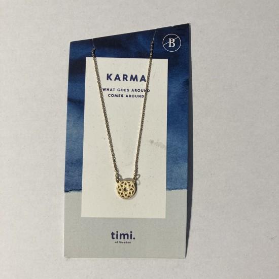 Timi - Collier avec pendentif roue du karma