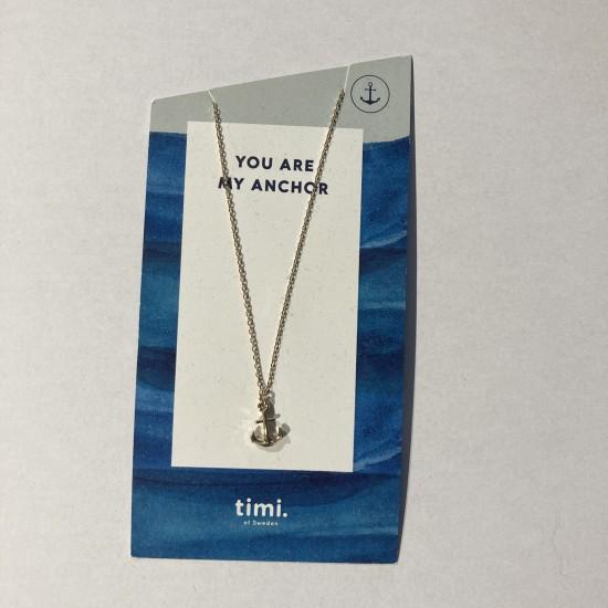 Timi - Collier avec pendentif ancre