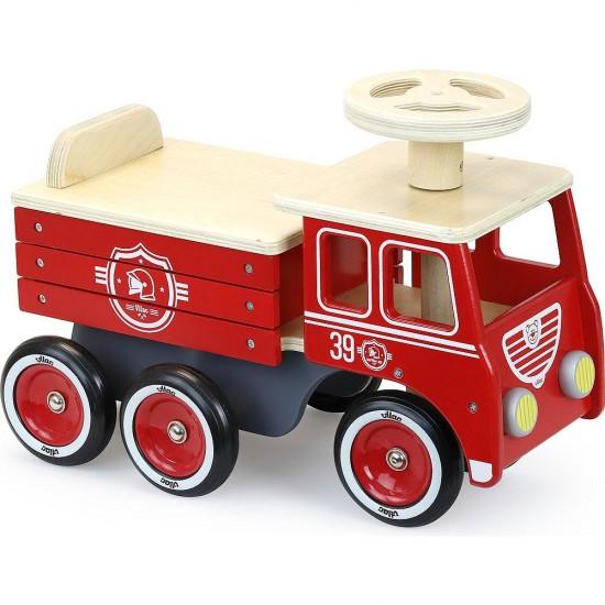 Vilac - Porteur camion de pompier en bois