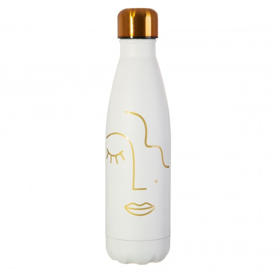 Sass & Belle - Bouteille isotherme visage or