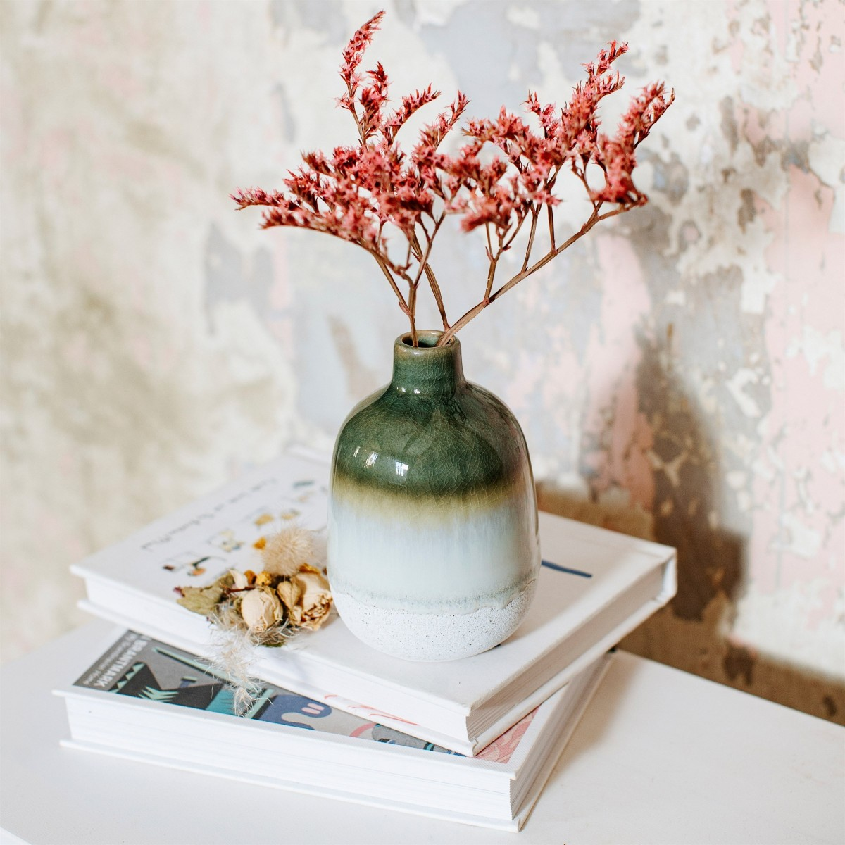 Sass & Belle - Vase étroit dégradé vert
