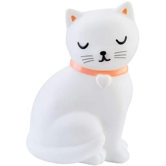 Sass & Belle - Veilleuse chat blanc