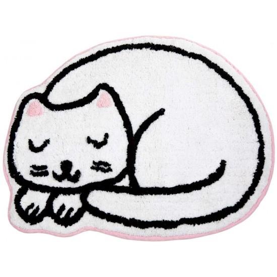 Sass & Belle - Tapis chat blanc