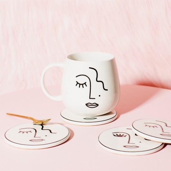 Sass & Belle - Mug visage abstrait