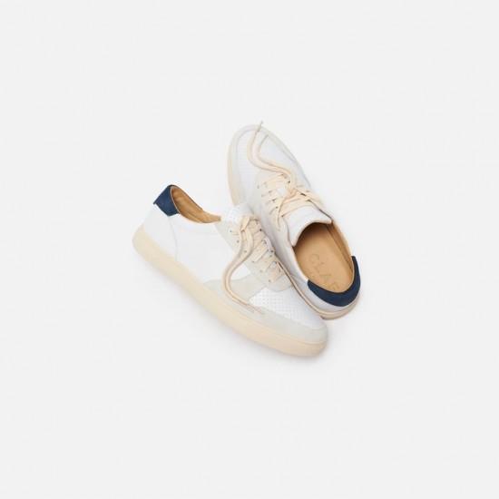 CLAE - Sneakers blanches en cuir