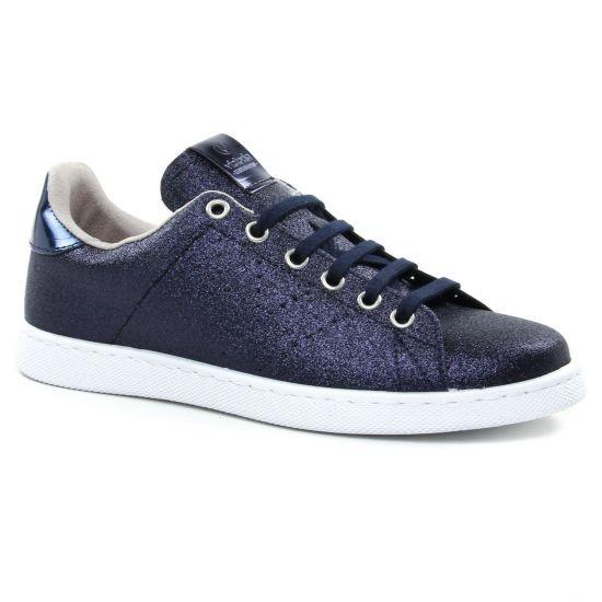 Victoria - Baskets à paillettes bleues