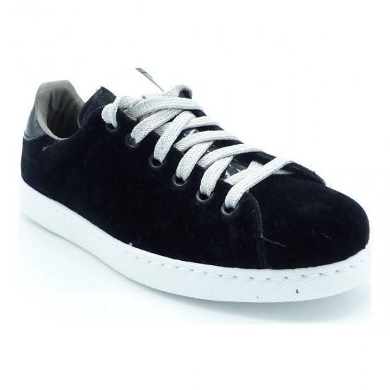 Victoria - Baskets en velours noir