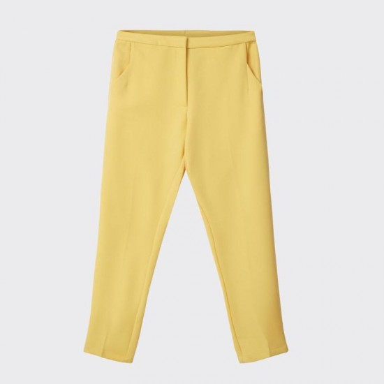 Minimum - Pantalon jaune fluide