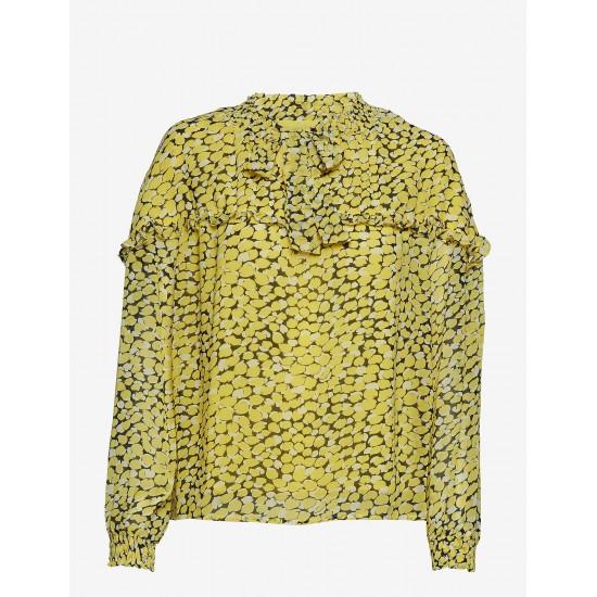 Minimum - Blouse jaune à motifs