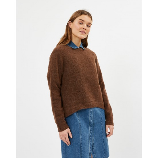 Minimum - Pull marron femme