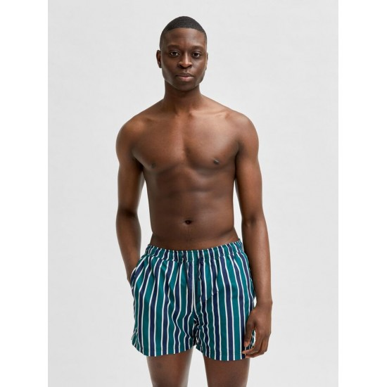 Selected homme - Short de bain à rayures