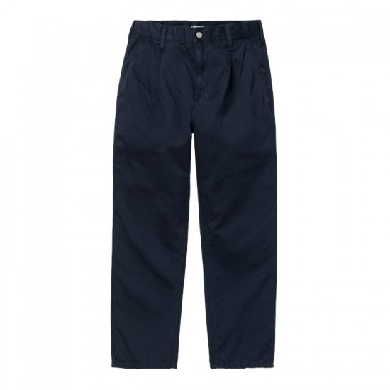 Carhartt WIP - Pantalon marine coupe droite