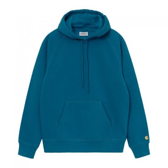 Carhartt WIP - Pull à capuche turquoise