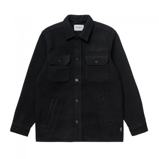 Carhartt WIP - Chemise épaisse en laine noire