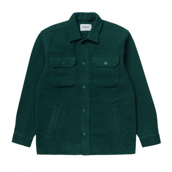 Carhartt WIP - Chemise épaisse en laine vert bouteille
