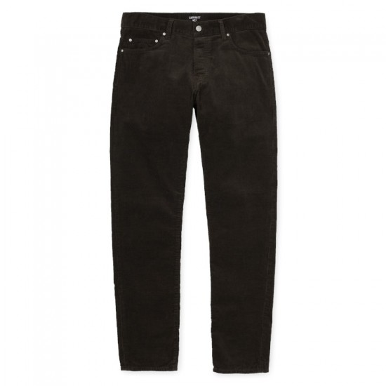 Carhartt WIP - Pantalon en velours vert foncé