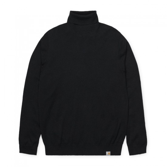 Carhartt WIP - Pull col roulé en laine noir