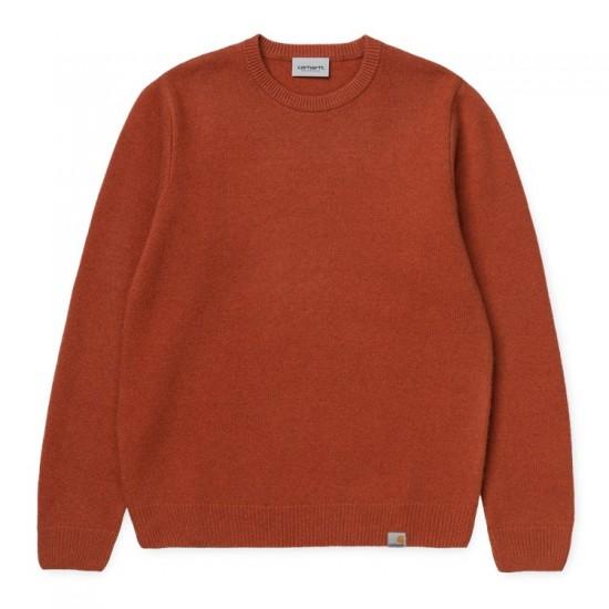 Carhartt WIP - Pull en laine rouille