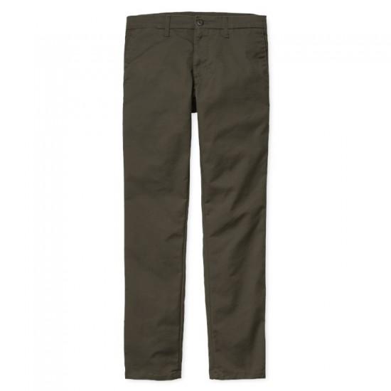 Carhartt - Pantalon chino vert kaki