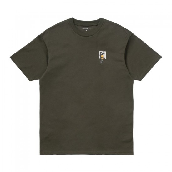Carhartt WIP - T-Shirt kaky homme