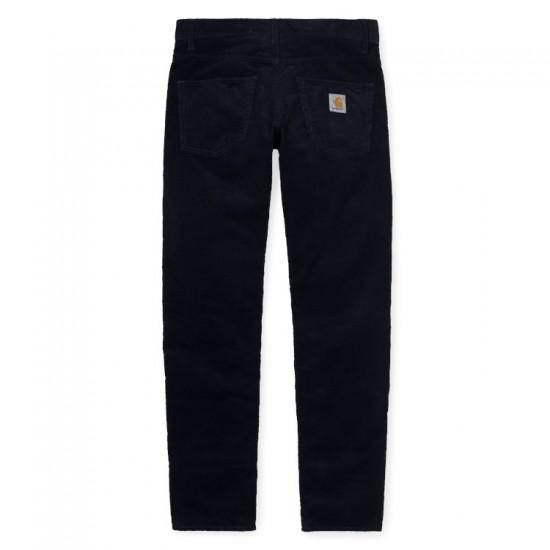 Carhartt WIP - Pantalon en velours bleu marine