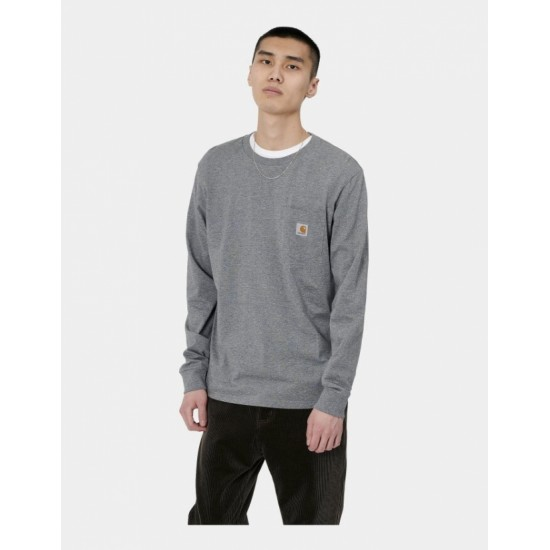 Carhartt WIP -T-shirt gris manches longues