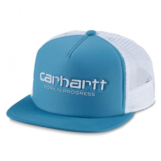 Carhartt WIP - Casquette turquoise avec filet