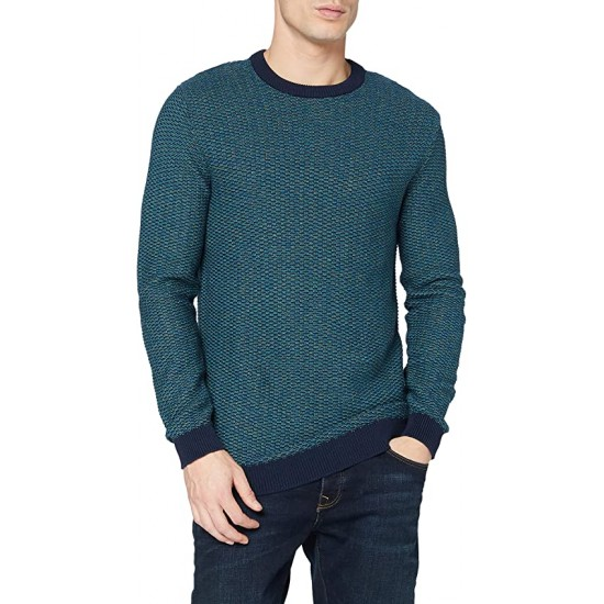 Selected homme - Pull turquoise et marine pour homme