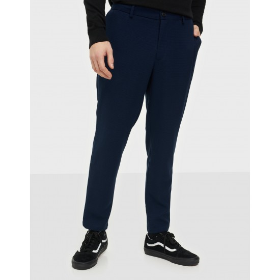 Selected homme - Pantalon souple marine slim
