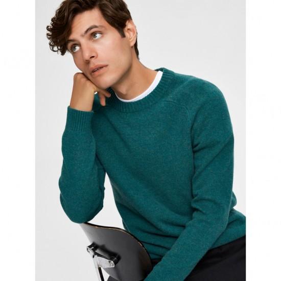 Selected homme - Pull vert en laine