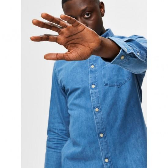 Selected homme - Chemise en jean épaisse