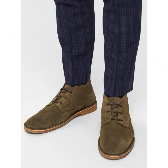 Selected - Chaussures en daim vertes