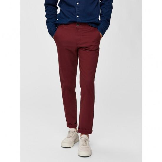 Selected homme - Pantalon chino bordeaux