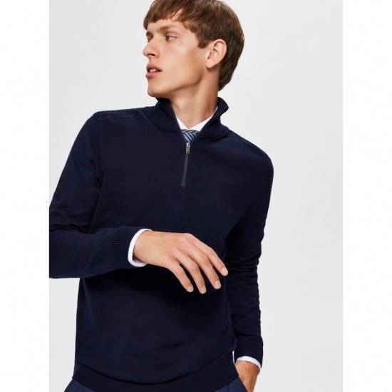Selected - Pull marine avec ZIP